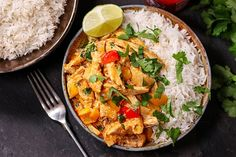 This Turkey Thai Curry recipe is ready to serve in less than 20 minutes! Plus, it's an awesome way to use up your Christmas leftovers.