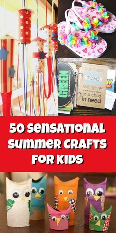 50 sensational summer crafts for kids gyerek kézműveskedés, kézműveskedés i Summer Crafts For Kids, Crafts For Kids To Make, Craft Activities For Kids, Summer Kids, Summer Activities, Projects For Kids, Fun Crafts, Art For Kids, Kids Diy