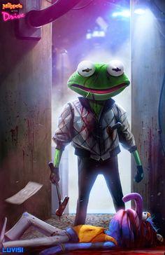 Kermit doesn& carry a gun& drives. Kermit the Frog in Drive. A Real frogy being& Childhood Ruined, Childhood Photos, Childhood Memories, Cartoon Kunst, Cartoon Art, Horror Cartoon, Evil Cartoon Characters, Childhood Characters, Children's Characters