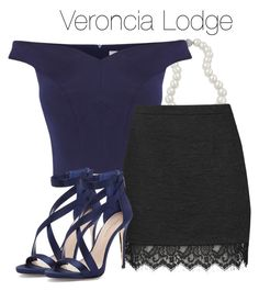 """""""Veronica Lodge - Riverdale"""" by shadyannon ❤ liked on Polyvore featuring Bling Jewelry, Coast, Topshop and Imagine by Vince Camuto"""
