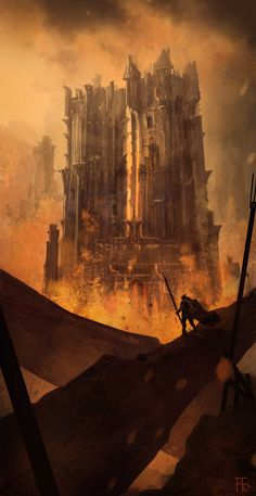 The Burning towers by FlorentLlamas on DeviantArt