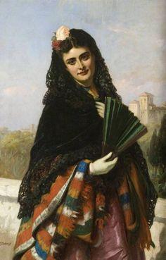 Испанские синьориты. Портреты. John Bagnold Burgess - Художественная галерея
