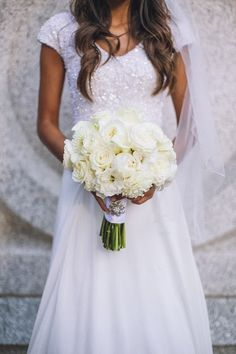 Beautiful wedding dress by Alta Moda.