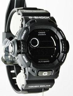 Casio G-Shock Mens Limited Edition All-Black Solar Riseman