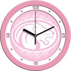 Ladies North Alabama Lions - Pink Wall Clock