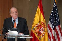 """Entrega del Premio """"Bernardo de Gálvez"""": Don Juan Carlos, durante sus palabras. Residencia de la Embajada de España en EE.UU. Washington D.C., 02.03.2015"""