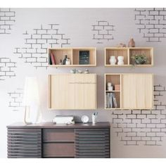White Brick Wall Decals – WallDecalMall.com