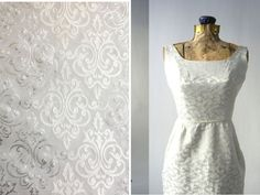 Damask - List of the Trendiest Wedding Dress Material and Fabrics - EverAfterGuide