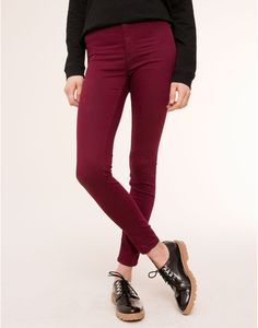HIGH-WAISTED SKINNY TROUSERS - PULL&BEAR