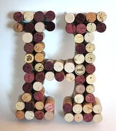 "i LOVE this idea! I think it would be cute to have a letter ""B"" made out of corks and a ""D"" made out of beer caps :)"