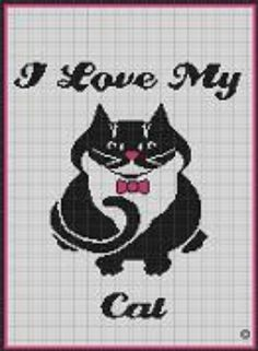 Free Cat Afghan Pattern | CROCHET PATTERNS I LOVE MY CAT AFGHAN GRAPH E-MAILED.PDF ...