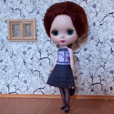 https://flic.kr/p/t2o7xb | Léontine in Natasha's dress. | Today was a dolly mail day :-)  Partial Takara Stock outfits arrived - Natasha Moore's dress & coat.  Here is Léontine in Natasha Moore's dress