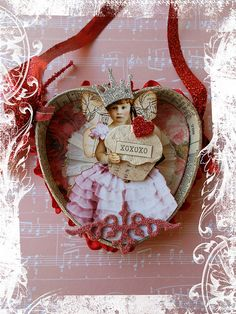 altered Altoid tin heart