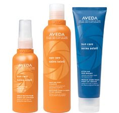 Aveda's Sun Care 16-Hour UV defense and recovery system cleanses, restores and protects hair from sun damage.  http://www.aveda.com/ShopAveda.tmpl?SalonID=26791