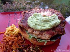 Ahi Tuna Burgers {with Avocado Aioli & Sriracha Mayo} Lemony Thyme