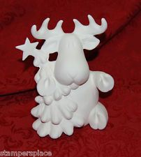 "Ready to Paint Lot of 4 Christmas Moose Ceramic Bisque Tree Figurine 6.5"" $60 Painted Ceramics, Ceramic Painting, Christmas Moose, Ceramic Bisque, Christmas Figurines, Painted Pottery"