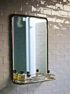 mirror, perfume and tiles