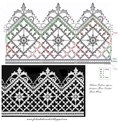 more ideas to crochet and knitting sweater from collar down Filet Crochet, Crochet Diy, Crochet Vintage, Thread Crochet, Irish Crochet, Flor Vintage, Patron Crochet, Crochet Edging Patterns, Crochet Lace Edging