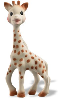 Sophie the Giraffe. It's a teething toy for babies but I totally want one. She's so cute!