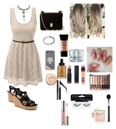 """Everyday summer glam😍🔥"" by alexandra-b-iuliana on Polyvore featuring LE3NO, Valentino, Kate Spade, Alex and Ani, GlamGlow, Smashbox, L'Oréal Paris, Maybelline, Giorgio Armani and Charlotte Russe"