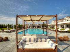 Poolside in The Hamptons