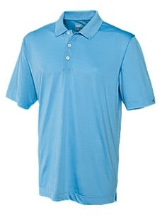 Men's CB DryTec™ Willows Polo. 100% Polyester. Jersey. Double faced collar. Self fabric neck tape at inside back neck. Three-button placket. Back half moon. Side vents. Open sleeves. Logo buttons. C Pennant at left sleeve hem. Moisture wicking. Colors: Atlas / Black / Cardinal Red / Coho / Jasper / Lotus / Navy Blue / Opal / Papaya / Pale Yellow / Sea Green / White. Sizes: S - XXXL  $53.00  range