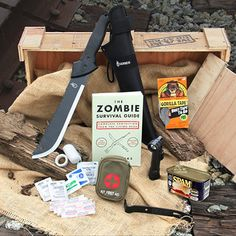 Zombie survival essentials.  Never bunker down without them. @krhein