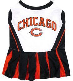 Chicago Bears Cheerleader Dog Dress NFL Pet Clothes  PetsFirst Football  Officials 7578345b0