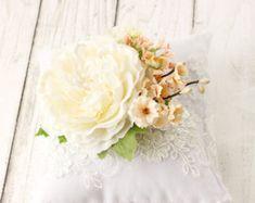 wedding rose hairpiece Bridal flower hairpiece by GadaByGrace