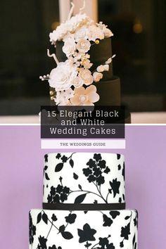Elegant Black and White Wedding Cakes #rusticcakes Pretty Wedding Cakes, Wedding Cake Rustic, Amazing Wedding Cakes, Black And White Wedding Cake, White Wedding Cakes, Tiger Lily Tattoos, Dream Wedding, Elegant, Nice