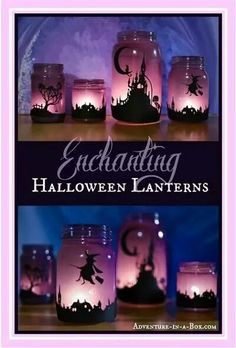 Neat effects with neon or glow in the dark paints & inexpensive clear ornaments  #TreetopiaHolidays  Evil characters silhouettes, skull profile, dracula & witch for a Halloween theme.