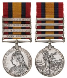 Orders, Decorations, & Medals - W. Cape Colony, International Bank, Battle Fight, Free State, In Writing, Type 3, South Africa, Auction