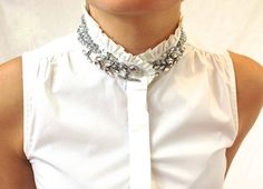 52 Best Jeweled Collars Images Collars For Women Banded Collar