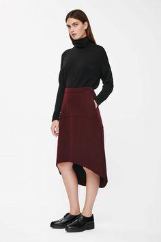 Brushed wool skirt