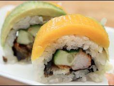 How to Make Sushi - Avocado Mango Rolls