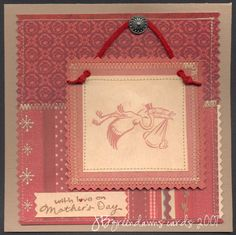 Printed Paper Mothers day card