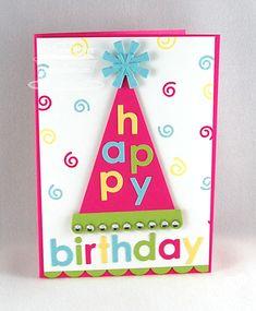 Jumbo Party Hat Die-namics; Happy Birthday Die-namics; Simply Scallops Small Die-namics - Michele Boyer