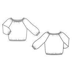 Блуза - выкройка № 124 B из журнала 6/2011 Burda – выкройки блузок на Burdastyle.ru