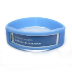 These silicone wristbands have a thin plastic window in the front of the band where your own name card or details can be displayed. These are particularly suitable for childrens trips or corporate events as they can easily be personalised and the insert can be changed again and again. The bands can be printed, debossed (engraved) or debossed with a printed infill. From £0.21  http://www.adband.co.uk/silicone-wristbands/138-identity-silicone-wristbands.html  #promotional #silicone #wristbands