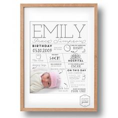 Custom Infographic Poster- Personalised Infographic Print- Photo Birth Announcement- Custom Print-  Printable File- Digital File- 8x10 by poppylovestogroove on Etsy https://www.etsy.com/listing/238259800/custom-infographic-poster-personalised