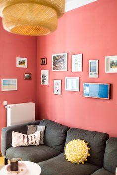 Unser Wohnzimmer Vorher Nachher Mit Schner Wohnen Farbe Koralle I Bilderwand Bildergalerie Boho