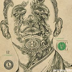 An incredible portrait of Barack Obama, made by the creatives of the greek studio Design Cartel.