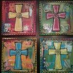 DIY Hand Painted Cross Coasters