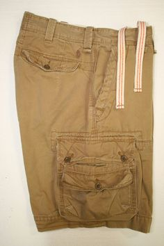Polo Ralph Lauren Pony Logo Bronzed Brown Cargo Shorts Drawstring (Mens 33) 2257 #PoloRalphLauren #Cargo