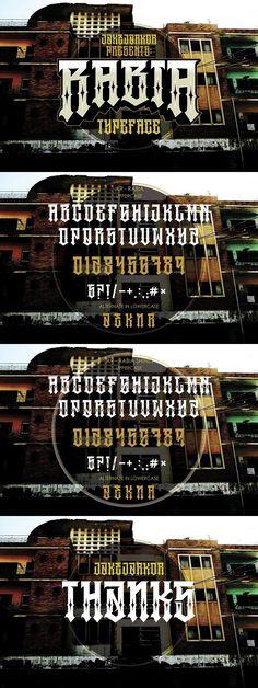 RABIA. Blackletter Fonts