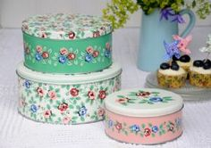 Set of 3 Rambling Rose Cake Tins