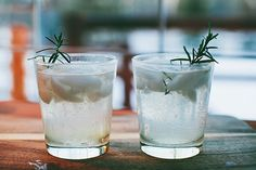 gin and tonic with rosemary simple syrup.