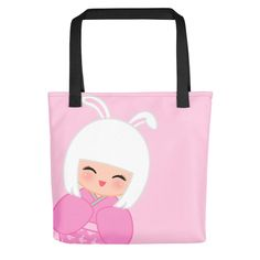 Look cute while grocery shopping with one of our tote bags!!! Chinese Horoscope Rabbit Kokeshi - Tote bag