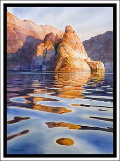 Original Watercolor Paintings by New Mexico Artist David Drummond - Specializing in Lake Powell paintings, Southwestern landscape paintings, figure portraits, iris paintings, floral paintings, botanical watercolors, new mexico bosque paintings