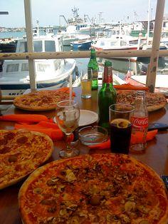 Pizza in Murter, Croatia